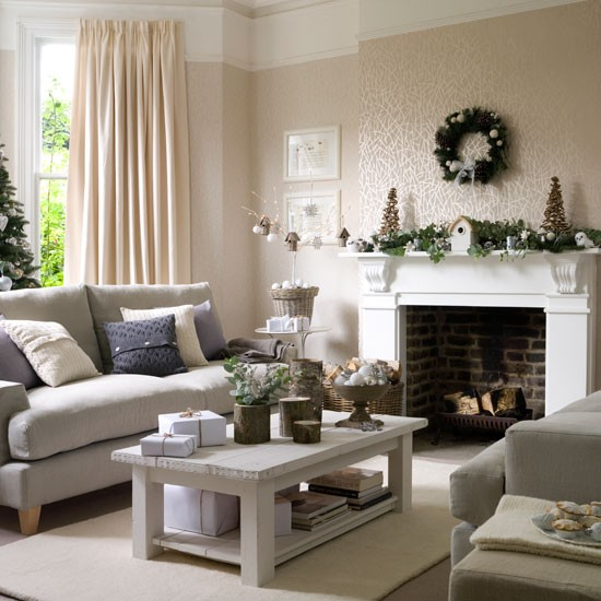 Inspiraci n navide a for Winter living room decorating ideas