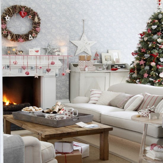 living-room--Christmas--scandi--Ideal-Home