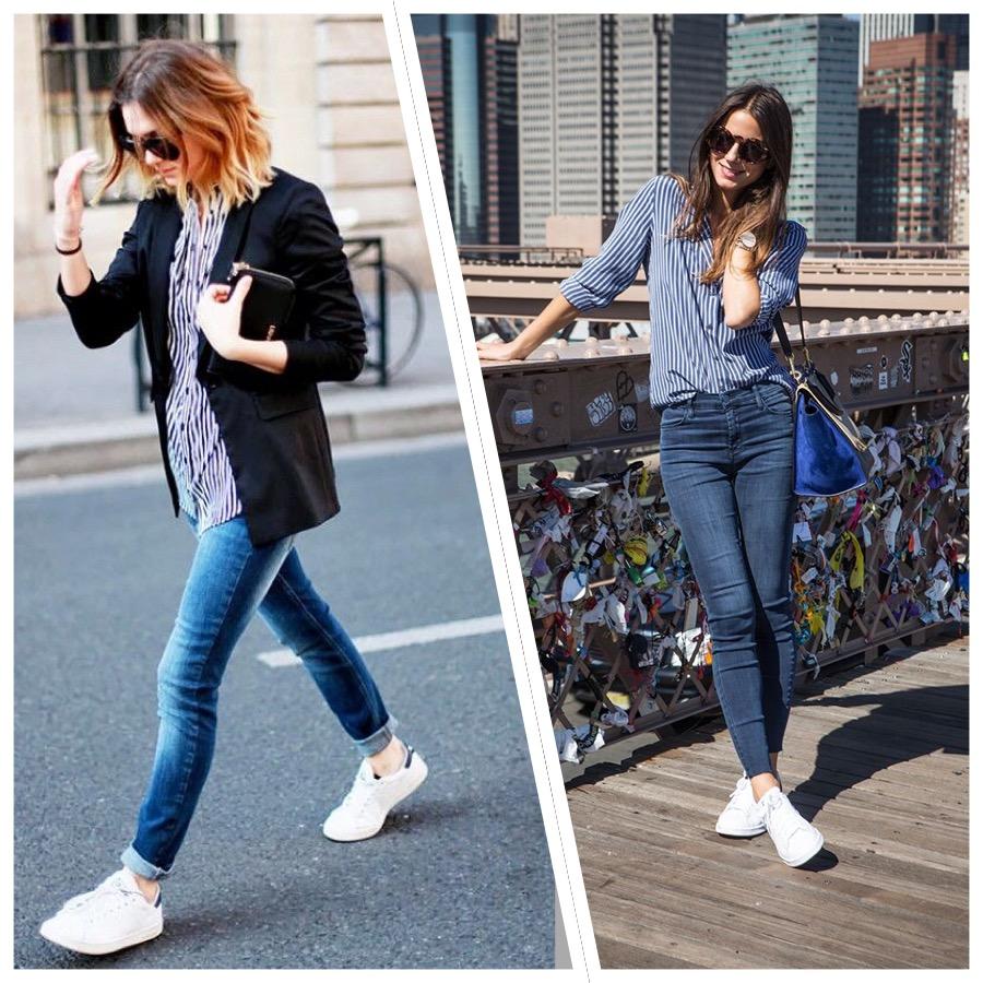 23 looks inspiradores con zapatillas blancas